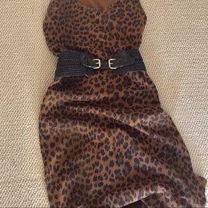 Cotton Leopard Tank Dress